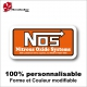 Sticker NOS Nitrous Oxide Systems