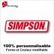Sticker SIMPSON casque