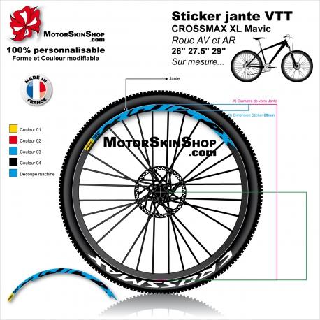 """Sticker jante VTT CROSSMAX XL Mavic 26"""" 27.5"""" 29"""""""