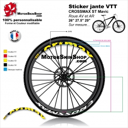 "Sticker jante VTT CROSSMAX ST Mavic 26"" 27.5"" 29"""
