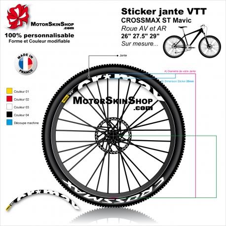 """Sticker jante VTT CROSSMAX ST Mavic 26"""" 27.5"""" 29"""""""
