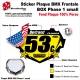 Sticker plaque BMX BOX Phase 1 small numéro nom age couleur pilote