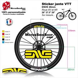"""Sticker jante VTT ENVE 20mm pour jante 26"""" 27.5"""" 29"""""""