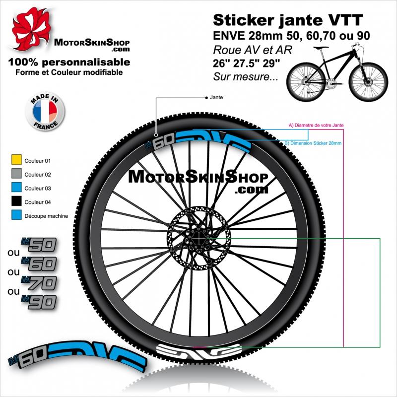 Autocollants jante pour v/élo Bontrager Line Comp 30 MTB 29 pouces Stickers Bike Original Jaune fluo
