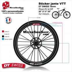 "Sticker jante VTT DT SWISS 18mm pour jante 26"" 27.5"" 29"""