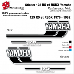 Sticker Yamaha 125 RS et RSDX 1976 - 1982
