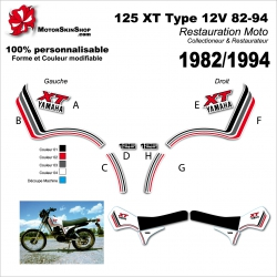 Sticker 125 XT Yamaha Type 12V 82-94