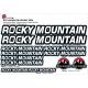 Sticker cadre vélo Kit Rocky Mountain après 2016