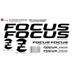 Sticker cadre Focus Izalco vélo XXL