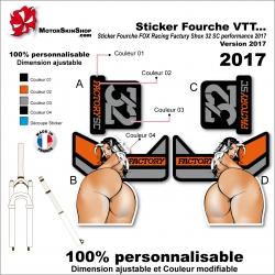 Sticker Fourche FOX Sexy Racing Factury Shox 32 SC performance 2017