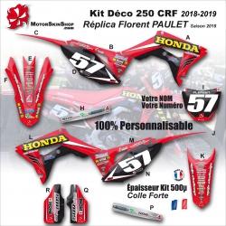 Kit déco 250 CRF 2018 HONDA Replica florent PAULET Saison 2018