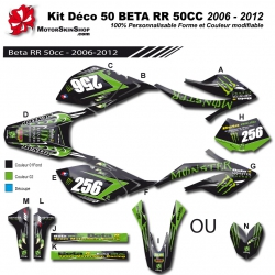 Kit déco 50 Beta RR 06-12 Monster Energy 50CC a boite