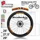 Sticker jante VTT ENVE M5 M6 M7 ou M9 2018 25mm Carbon Fiber Wheelset