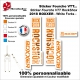 Sticker fourche RockShox Boxxer 2018 VTT Fourche Blanche