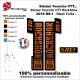 Sticker fourche RockShox RS-1 2018 VTT Fourche Noir
