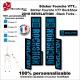 Sticker fourche RockShox Revelation 2018 VTT Fourche Noir