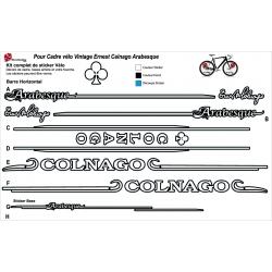 Sticker cadre Vintage Ernest Colnago Arabesque Vintage XXL