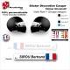 Sticker Nominatif Casque Moto Décoration Nom + Groupe Sanguin + Drapeau
