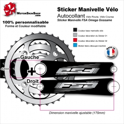 Sticker Manivelle FSA Omega Gossame Vélo