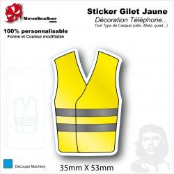 Sticker Gilet Jaune citoyen en colère