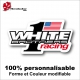 Sticker White Brothers Racing Vintage USA