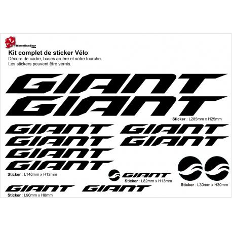 Sticker cadre vélo Giant 2018 autocollant