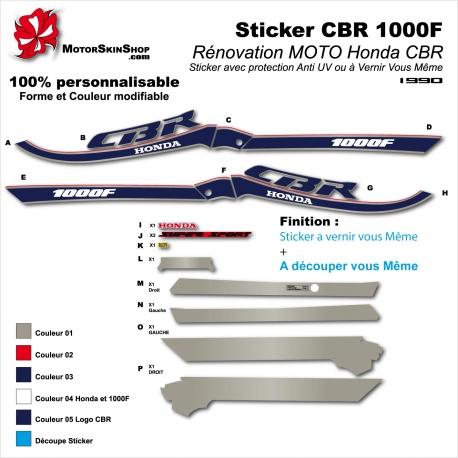 Sticker CBR 1000 Honda restauration
