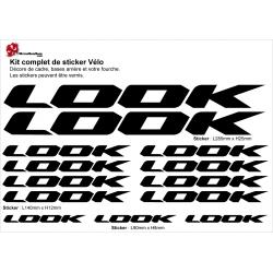 Sticker cadre vélo Look 2019