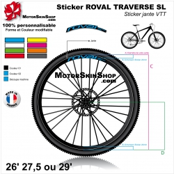 Sticker ROVAL TRAVERSE SL 20mm