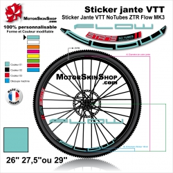 "Sticker Jante VTT NoTubes ZTR Flow MK3 18mm 26"" 27.5"" 29"""