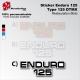 Sticker Enduro 125 Yamaha Type DTMX blanc Noir ou Rouge