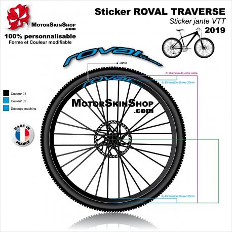 "Sticker ROVAL TRAVERSE 2019 20mm 26"" 27.5"" 29"""