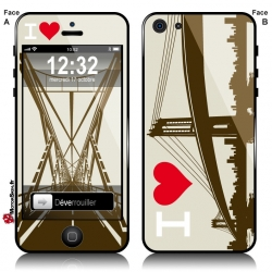 Sticker iPhone Pont Metallique