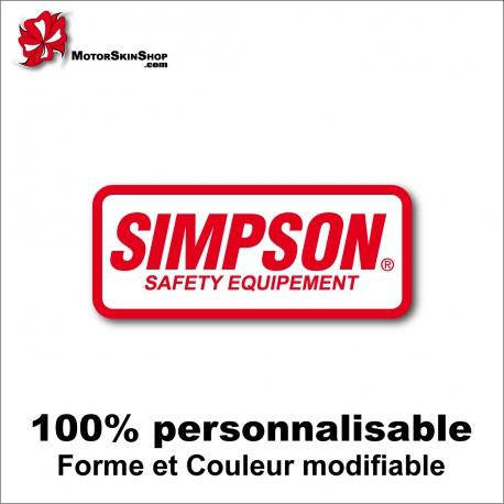 Sticker Simpson Safety Equipement