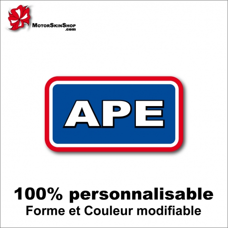 Sticker APE Dragster