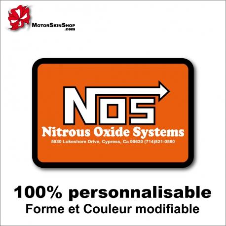 Sticker NOS Nitrous Oxide Systems Combinaison