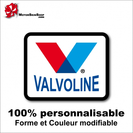 Sticker Valvoline Dragster Racing