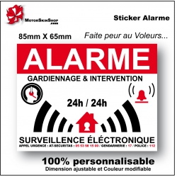 Sticker alarme maison autocollant Alarme Factice
