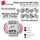Sticker Antivol vélo universel Puce GPS Tracker SON