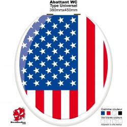 Sticker abattant WC Drapeau Américain