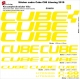 Sticker cadre Cube C68 Litening 2019 (Jaune Fluo possible)