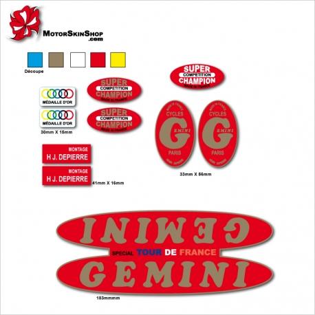 Sticker Cadre Vélo Gemini Restauration