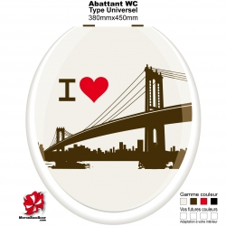 Sticker abattant WC Pont New York