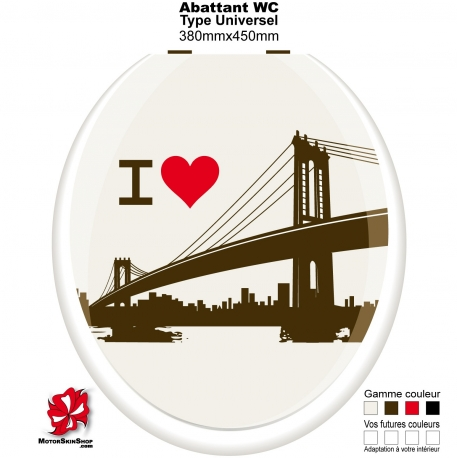 Sticker décoration Abattant WC Pont New York