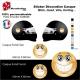 Sticker Smiley Casque aérographe Emoticone SOURIRE