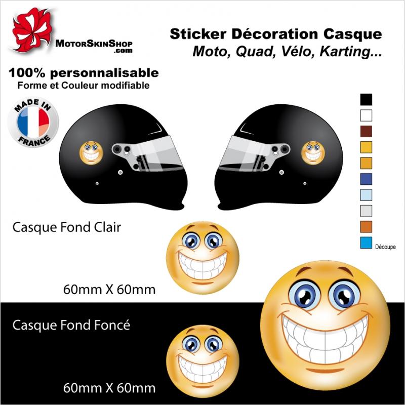 Sticker Smiley Casque Aerographe Emoticone Sourire Autocollant Smill
