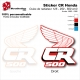 Sticker CR125 CR250 CR500 Ouies de Radiateur Honda de 1988