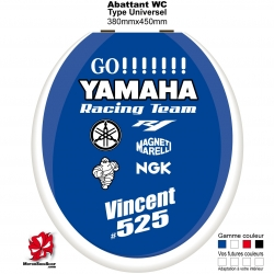 Sticker abattant WC Yamaha