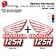 Sticker CR125 CR250 CR500 Ouies de Radiateur Honda de 1989