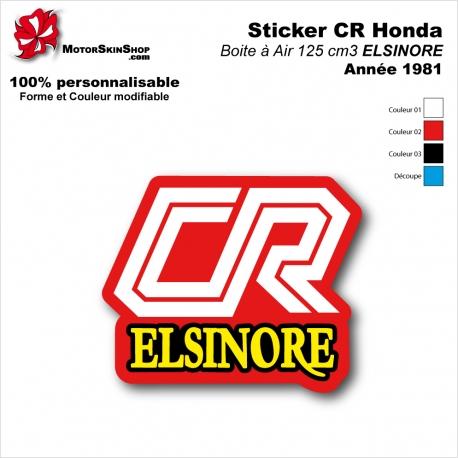 Sticker CR125 ELSINORE de 1981 Plaque latérale